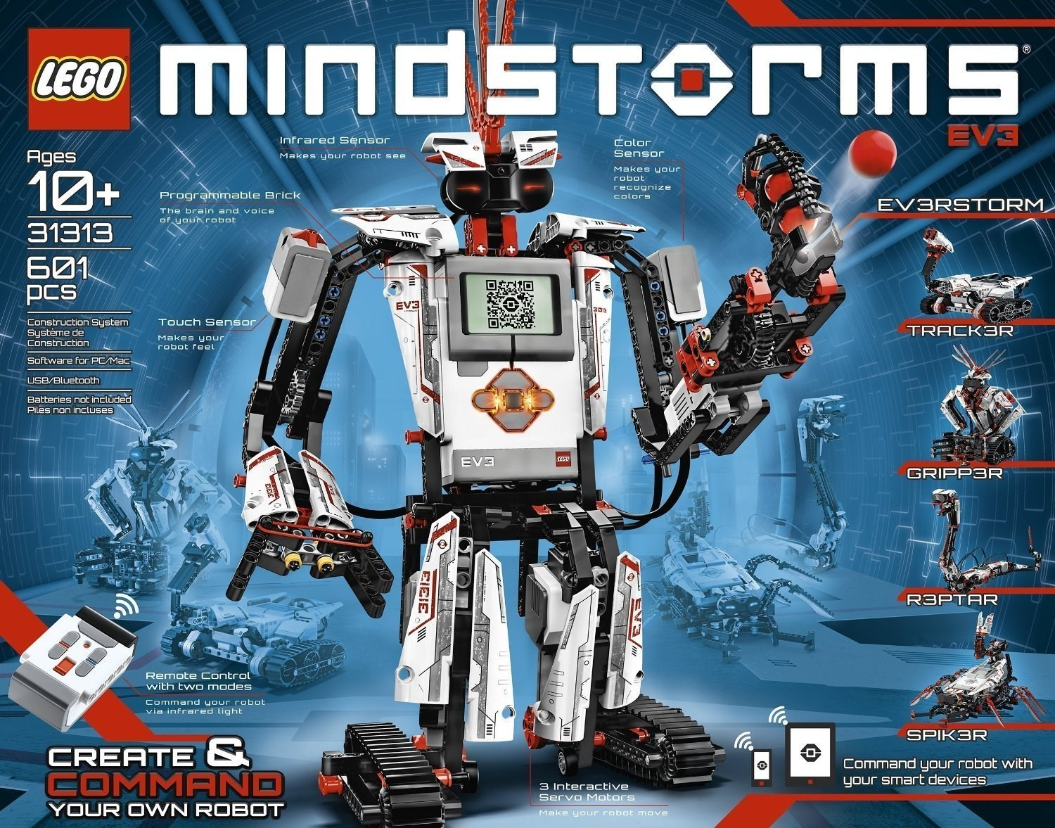 LEGO Mindstorms EV3 Large Servo Motor BRAND NEW /& SEALED 45502, from set 31313